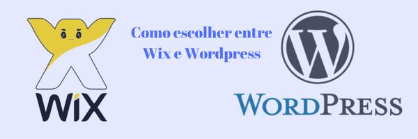 wix wordpess como escolher